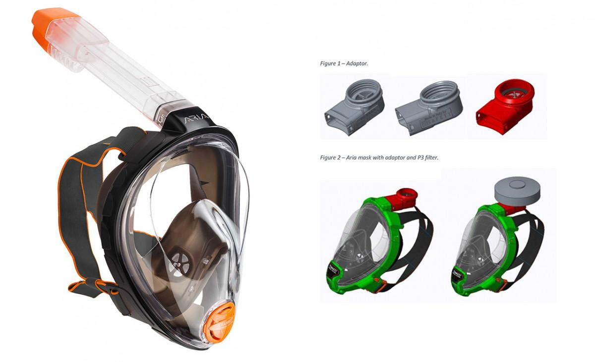 Ocean Reef is expected to offer a newly created adaptor that will fit in place of the snorkel extension on the top of any Ocean Reef-produced snorkel mask.