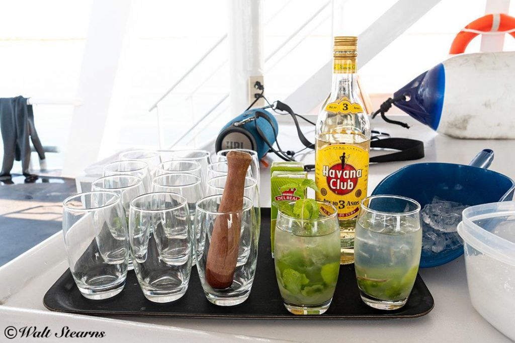 mojito to wash away the salt taste in your mouth