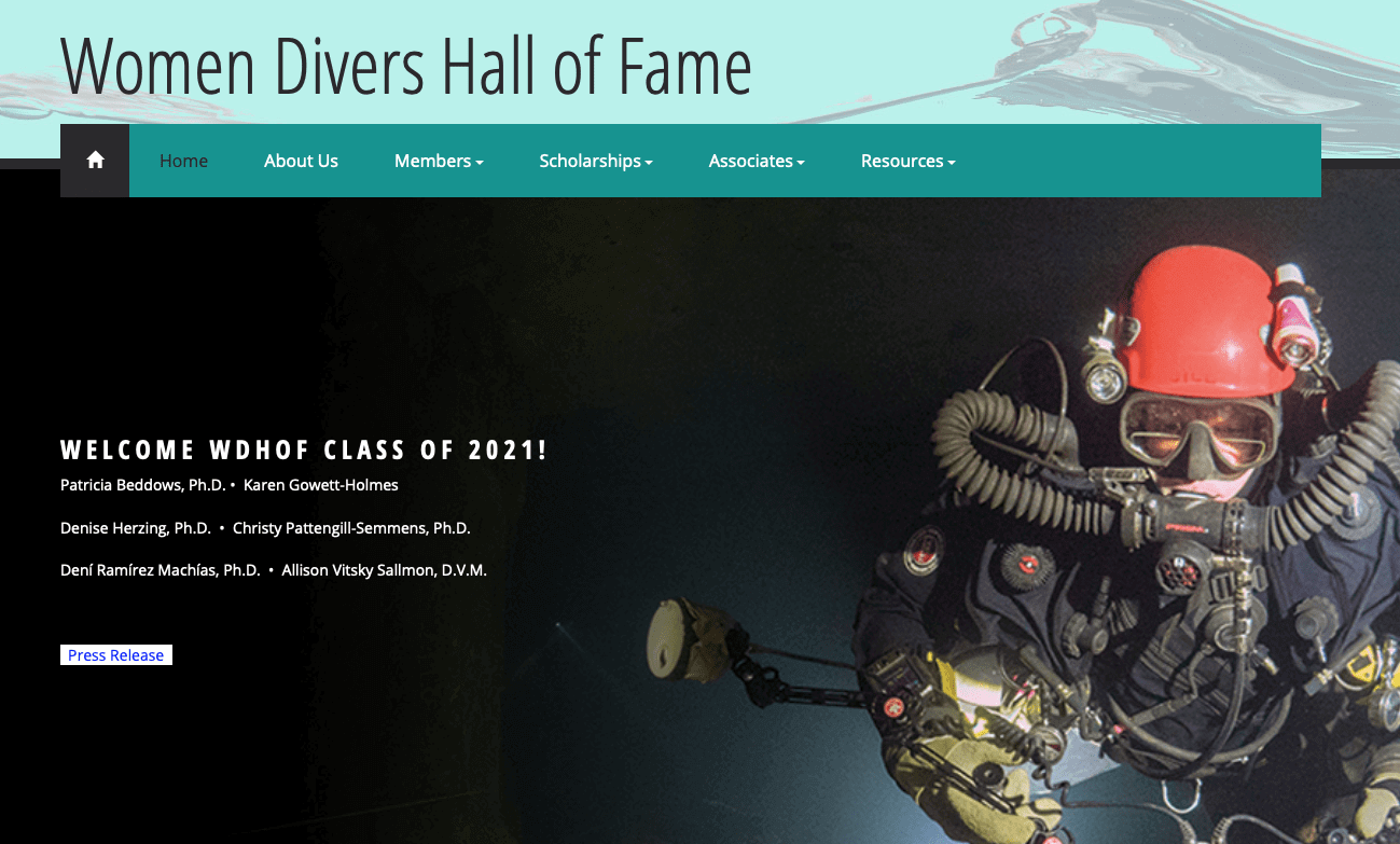 The Women Divers Hall of Fame Class of 2021 1