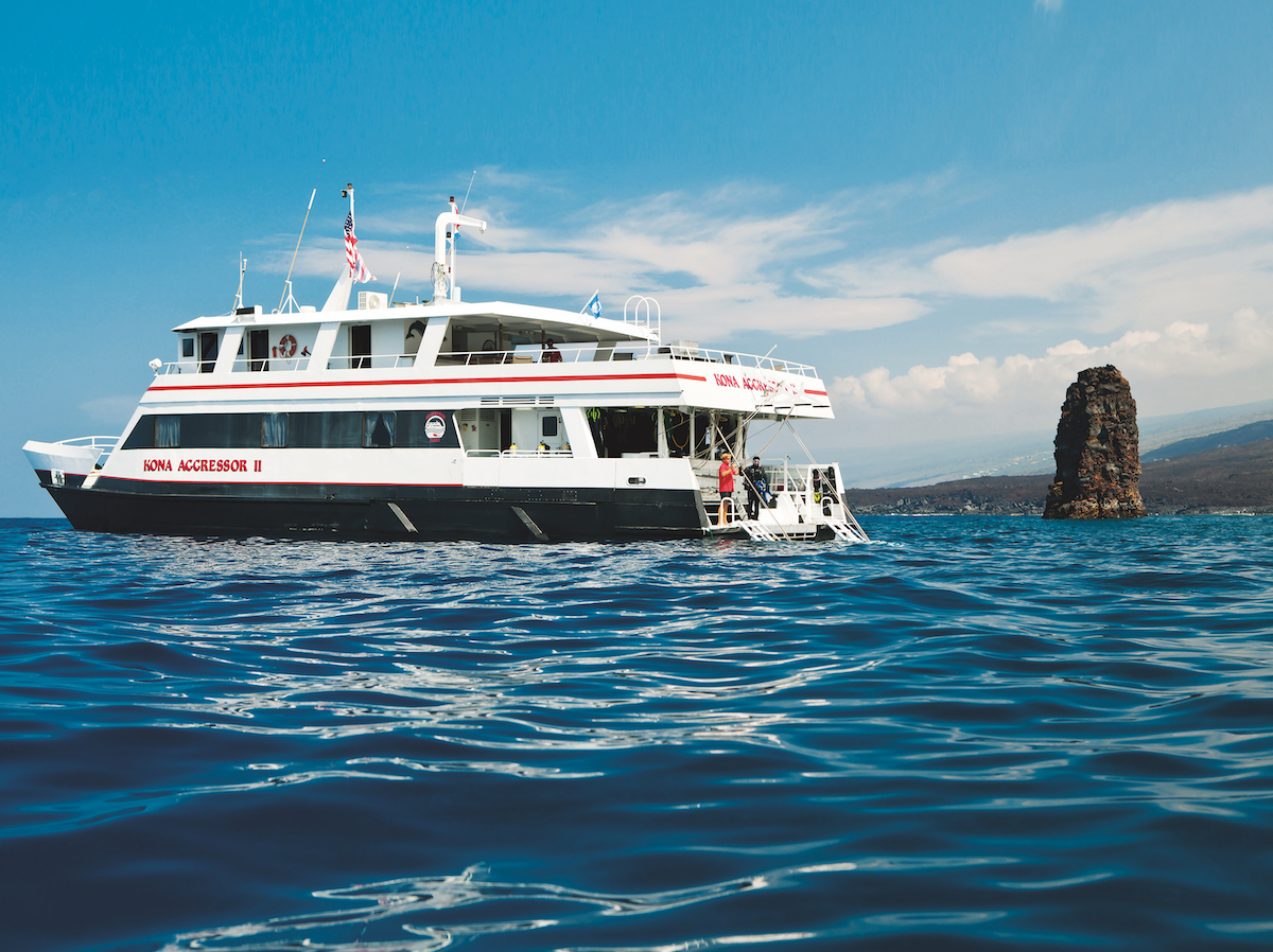 The Kona Aggressor II is a popular choice to explore all that Hawaii scuba diving has to offer.