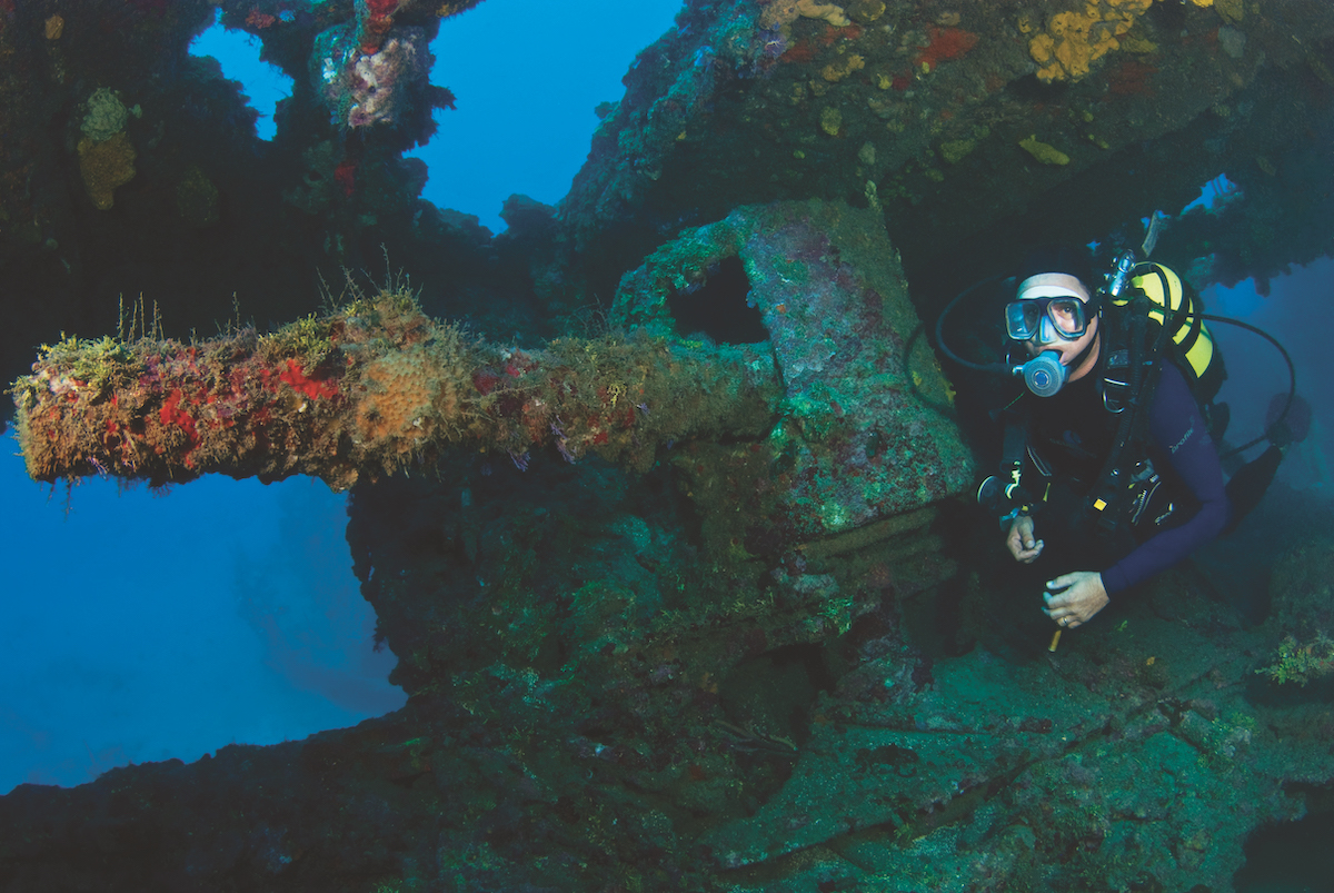 Best wreck diving in the Caribbean - the Cristobal Colon.